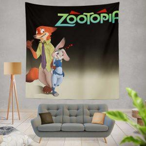 Zootopia Movie Judy Hopps Nick Wilde Wall Hanging Tapestry
