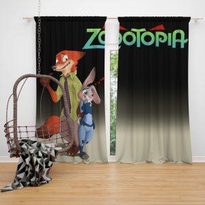 Zootopia Movie Judy Hopps Nick Wilde Window Curtain