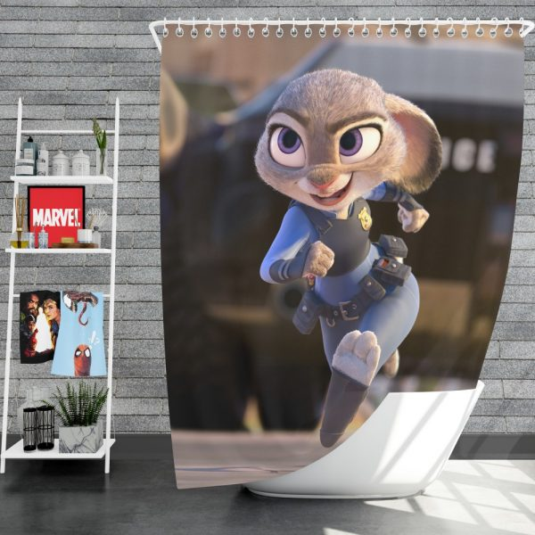 Zootopia Movie Judy Hopps Shower Curtain