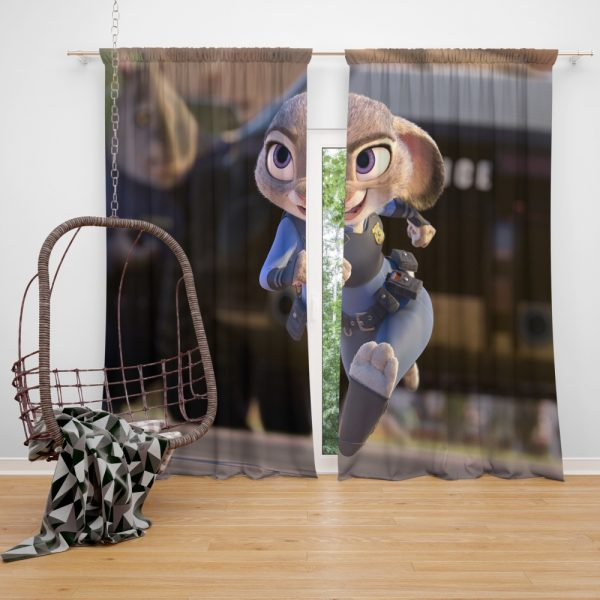 Zootopia Movie Judy Hopps Window Curtain