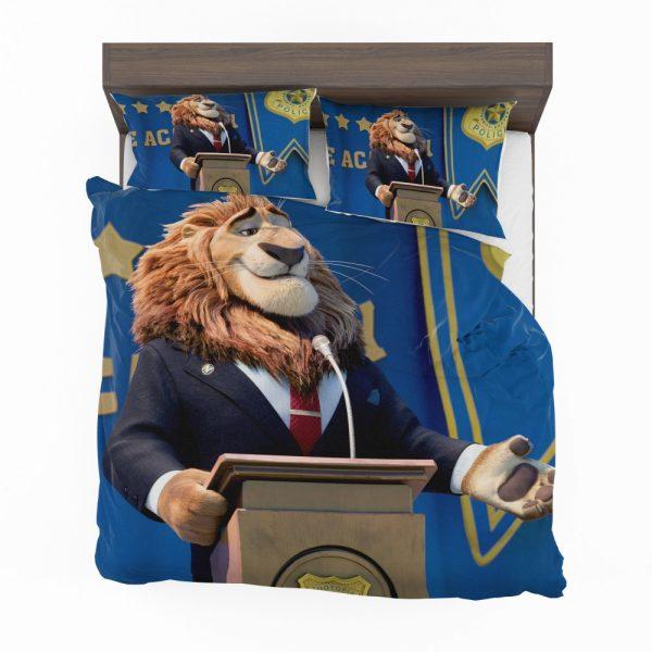 Zootopia Movie Mayor Lionheart Bedding Set 2