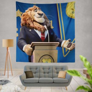 Zootopia Movie Mayor Lionheart Wall Hanging Tapestry