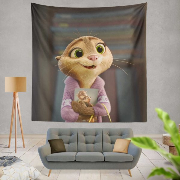 Zootopia Movie Mrs Otterton Wall Hanging Tapestry