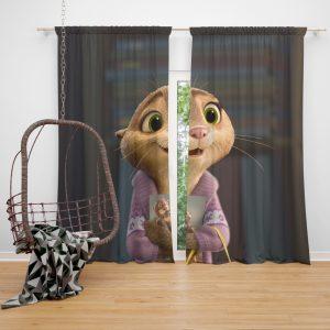 Zootopia Movie Mrs Otterton Window Curtain
