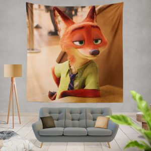 Zootopia Movie Nick Wilde Wall Hanging Tapestry