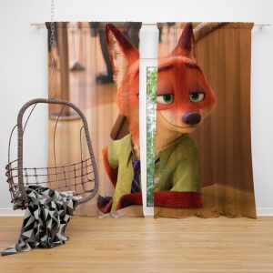 Zootopia Movie Nick Wilde Window Curtain