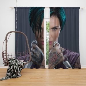 xXx Return of Xander Cage Movie Ruby Rose Window Curtain