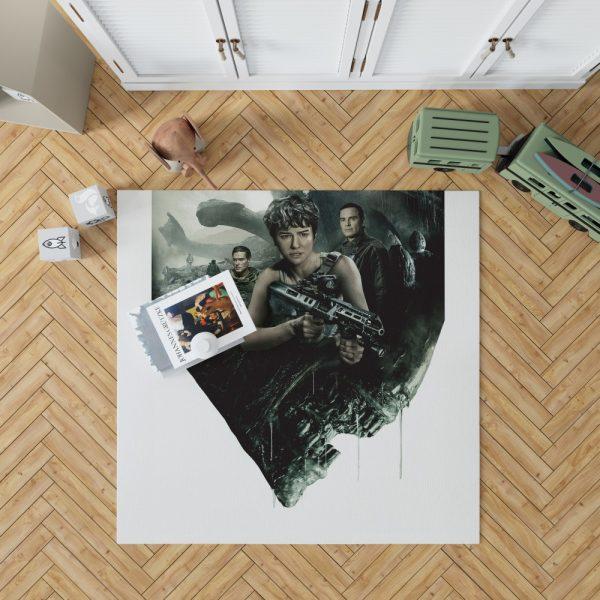 Alien Covenant Movie Katherine Waterston Michael Fassbender Xenomorph Bedroom Living Room Floor Carpet Rug 1