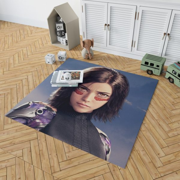 Alita Battle Angel Movie Bedroom Living Room Floor Carpet Rug 2