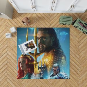 Aquaman Movie Amber Heard Jason Momoa Mera DC Comics Bedroom Living Room Floor Carpet Rug 1