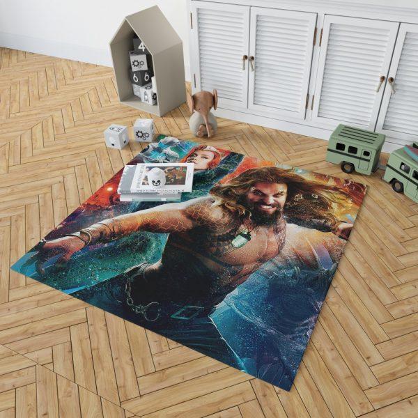 Aquaman Movie Amber Heard Jason Momoa Mera DC Universe Bedroom Living Room Floor Carpet Rug 2