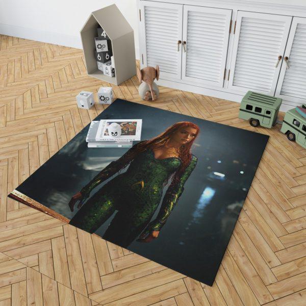 Aquaman Movie Amber Heard Mera DC Comics Bedroom Living Room Floor Carpet Rug 2
