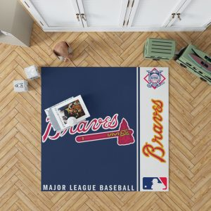 Atlanta Braves MLB Baseball National League Floor Carpet Rug Mat 1