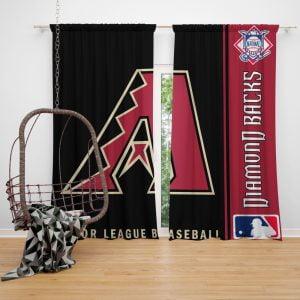 Atlanta Braves MLB Baseball National League Window Curtain