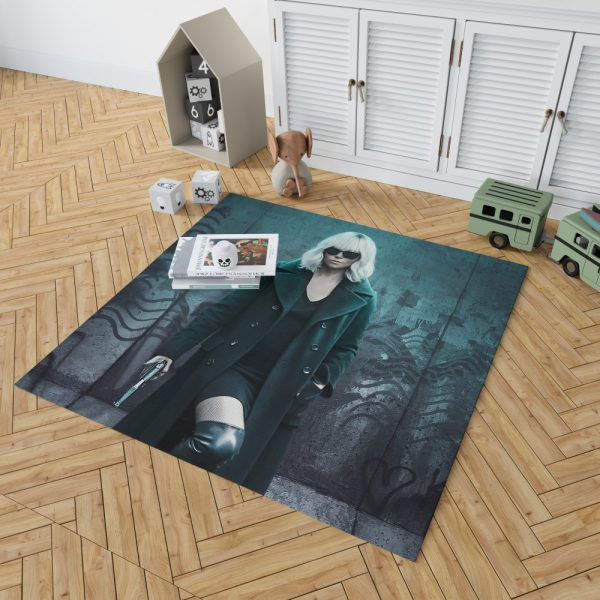 Atomic Blonde Movie Atomic Blonde Charlize Theron Bedroom Living Room Floor Carpet Rug 2