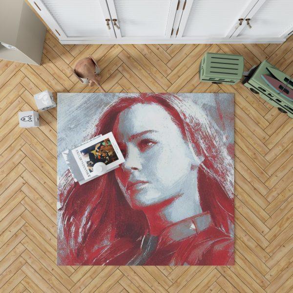 Avengers Endgame Movie Brie Larson Bedroom Living Room Floor Carpet Rug 1