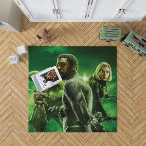 Avengers Infinity War Okoye Black Panther Black Widow Hulk Bedroom Living Room Floor Carpet Rug 1
