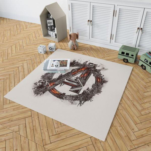 Avengers Logo Print Bedroom Living Room Floor Carpet Rug 2