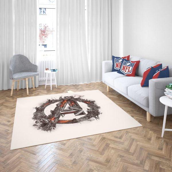 Avengers Logo Print Bedroom Living Room Floor Carpet Rug 3