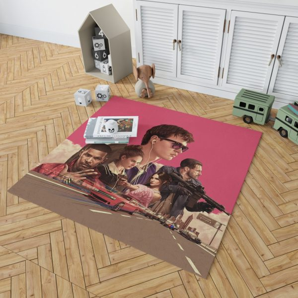 Baby Driver Movie Kids Bedroom Living Room Floor Carpet Rug 2