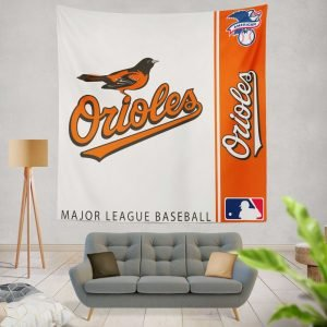 Baltimore Orioles MLB Baseball American League Wall Hanging Tapestry
