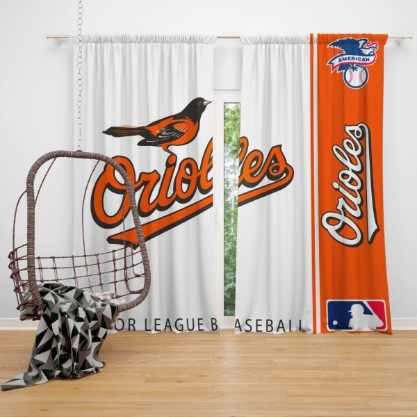Baltimore Orioles MLB Baseball American League Window Curtain