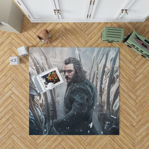 Bard the Bowman in The Hobbit Battle of the Five Armies Movie Bedroom Living Room Floor Carpet Rug 1