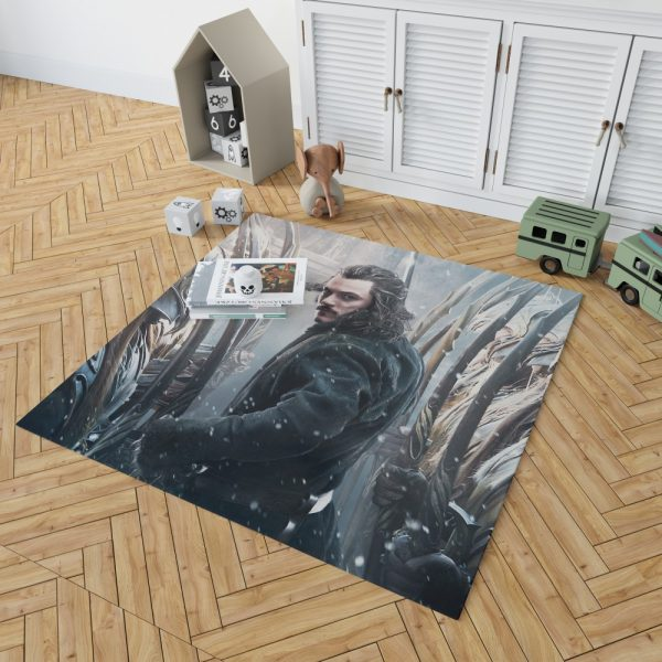 Bard the Bowman in The Hobbit Battle of the Five Armies Movie Bedroom Living Room Floor Carpet Rug 2