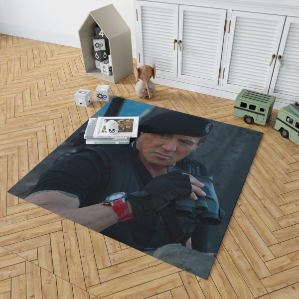 Barney Ross Sylvester Stallone The Expendables 3 Movie Bedroom Living Room Floor Carpet Rug 2