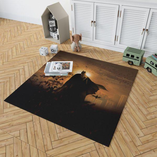 Batman Begins Movie Bruce Wayne Bedroom Living Room Floor Carpet Rug 2