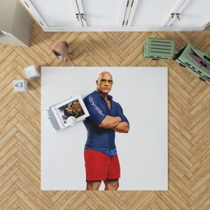 Baywatch Movie Actor Baywatch Dwayne Johnson Man Muscle Bedroom Living Room Floor Carpet Rug 1