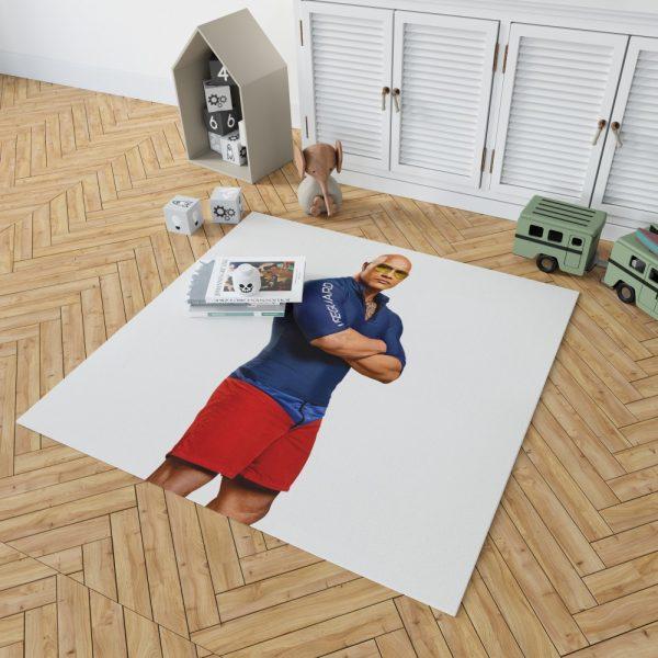 Baywatch Movie Actor Baywatch Dwayne Johnson Man Muscle Bedroom Living Room Floor Carpet Rug 2