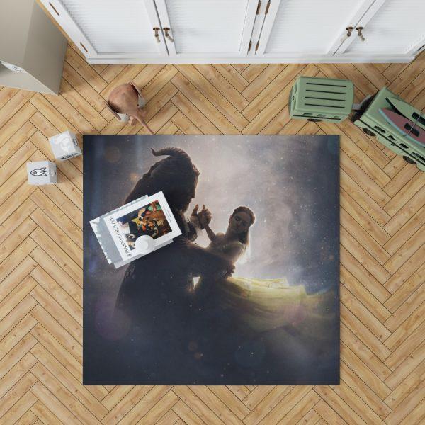 Beauty And The Beast 2017 Movie Dan Stevens Emma Watson Bedroom Living Room Floor Carpet Rug 1
