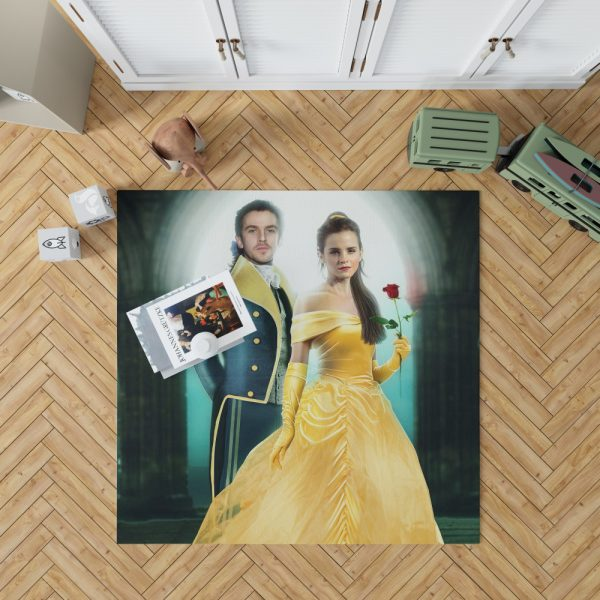 Beauty And The Beast 2017 Movie Emma Watson Bedroom Living Room Floor Carpet Rug 1