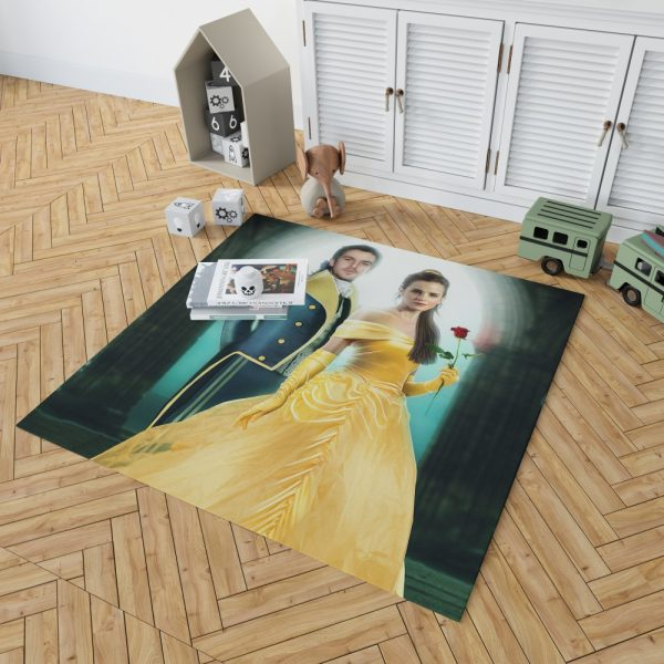 Beauty And The Beast 2017 Movie Emma Watson Bedroom Living Room Floor Carpet Rug 2