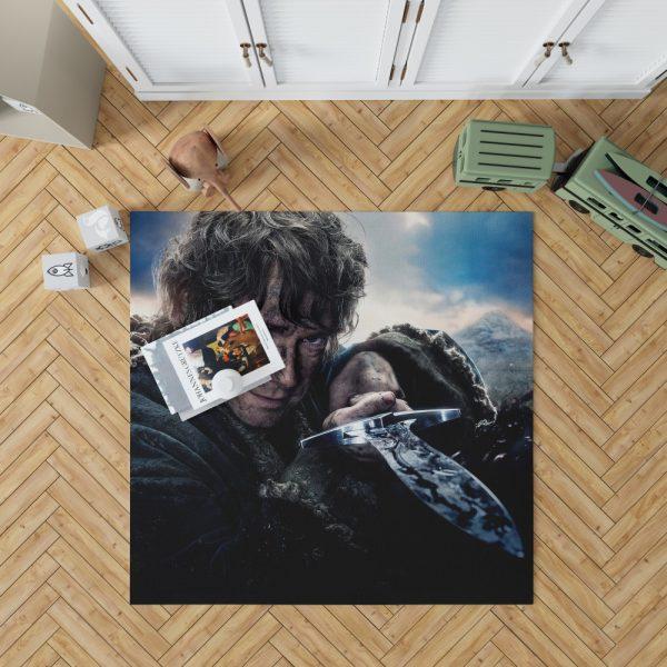 Bilbo Baggins in Lord Of The Rings Movie Bedroom Living Room Floor Carpet Rug 1