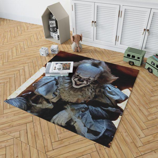 Bill Skarsgard Pennywise Clown It Bedroom Living Room Floor Carpet Rug 2