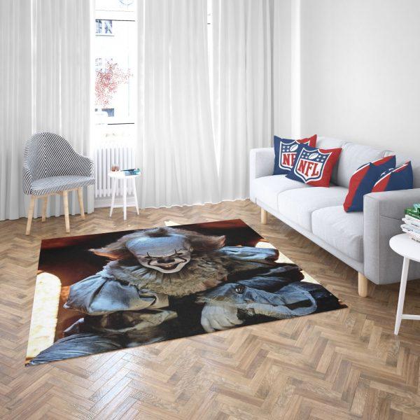 Bill Skarsgard Pennywise Clown It Bedroom Living Room Floor Carpet Rug 3