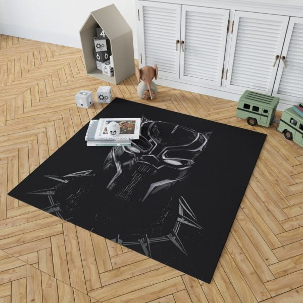 Black Panther Artwork Movie Bedroom Living Room Floor Carpet Rug 2
