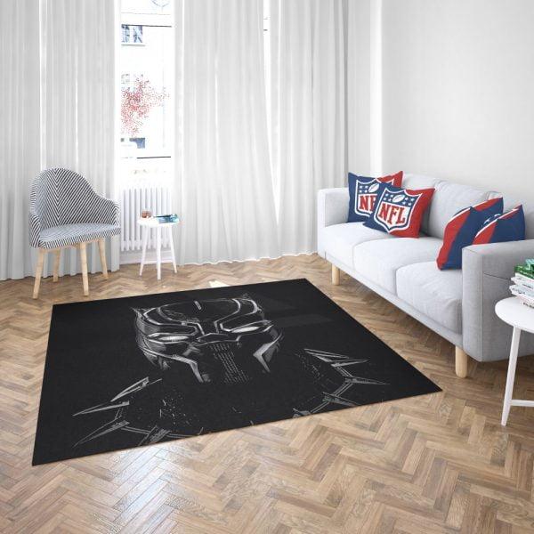Black Panther Artwork Movie Bedroom Living Room Floor Carpet Rug 3