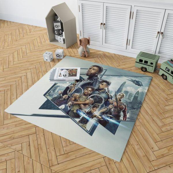 Black Panther Bedroom Bedroom Living Room Floor Carpet Rug 2