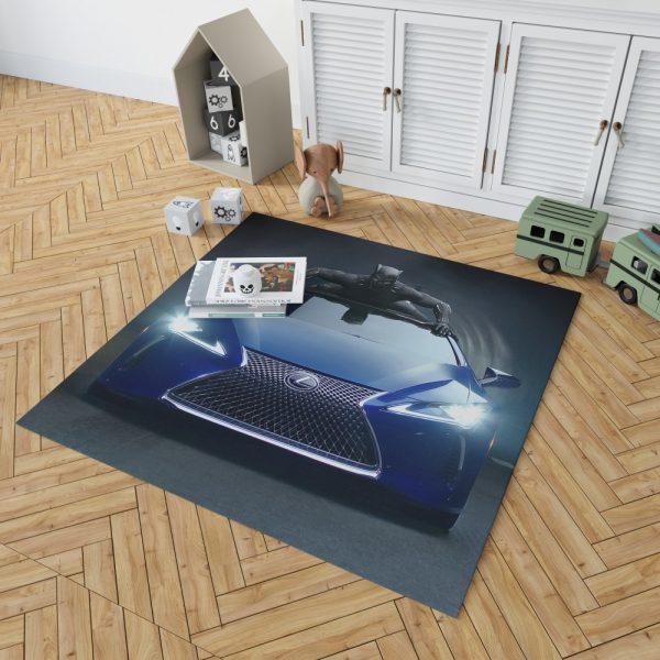 Black Panther Lexus LC Bedroom Living Room Floor Carpet Rug 2