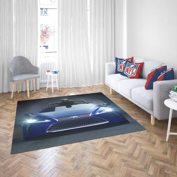 Black Panther Lexus LC Bedroom Living Room Floor Carpet Rug 3