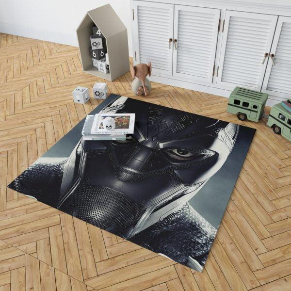 Black Panther Marvel Comics Bedroom Living Room Floor Carpet Rug 2