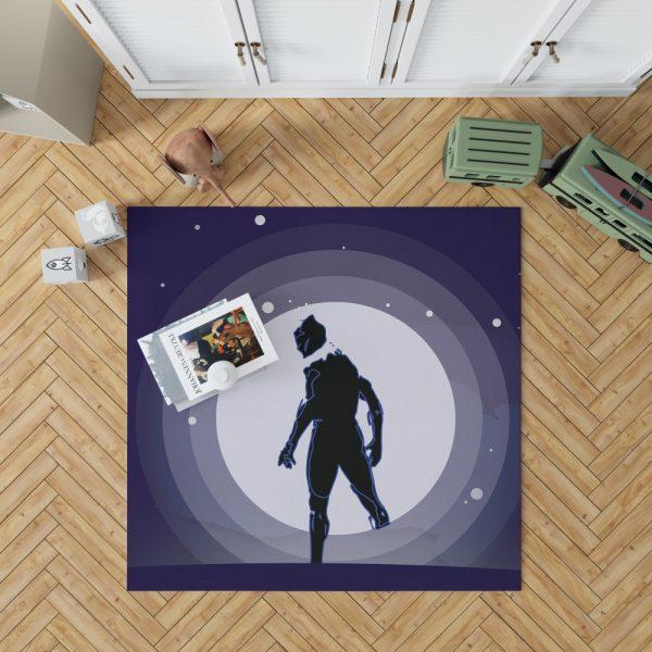 Black Panther Movie Marvel Comics Bedroom Living Room Floor Carpet Rug 1