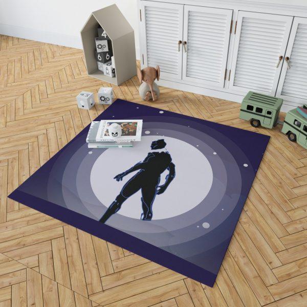Black Panther Movie Marvel Comics Bedroom Living Room Floor Carpet Rug 2