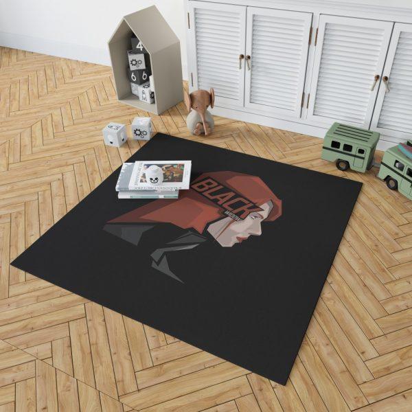 Black Widow Movie Bedroom Living Room Floor Carpet Rug 2