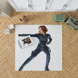 Black Widow in The Avengers Movie Scarlett Johansson Bedroom Living Room Floor Carpet Rug 1