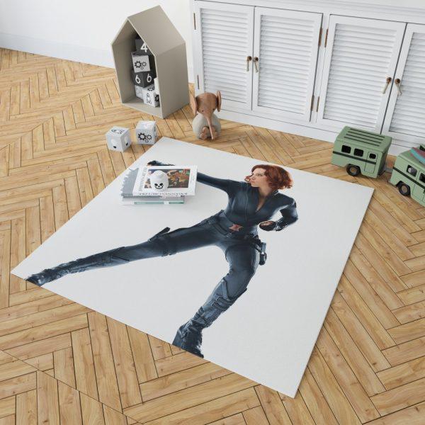 Black Widow in The Avengers Movie Scarlett Johansson Bedroom Living Room Floor Carpet Rug 2