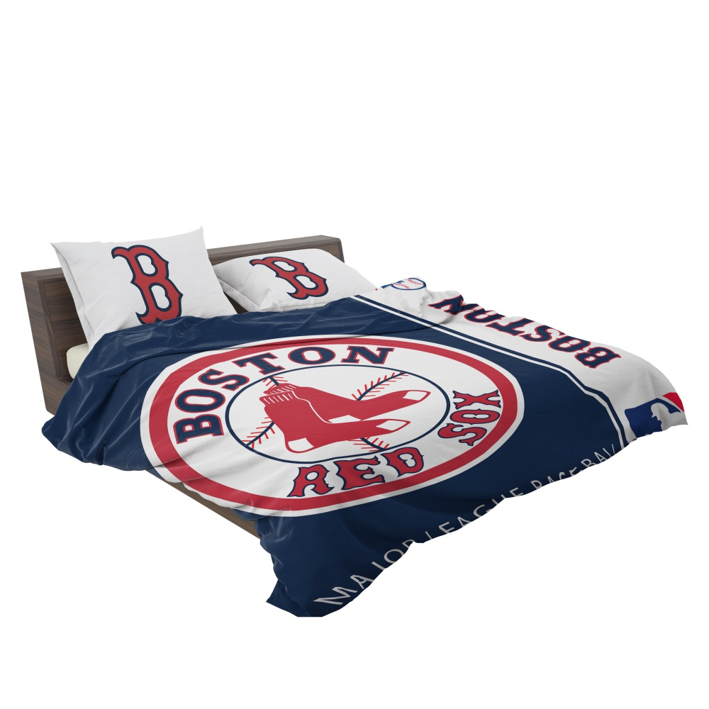 Boston Red Sox Mlb Baseball American League Bedding Set